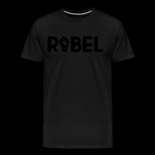 Black Rebel Text - Men's Premium T-Shirt