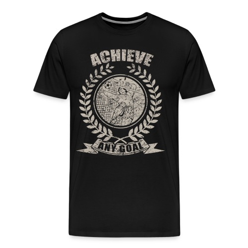 Achieve Any Goal Soccer Design - Men's Premium T-Shirt