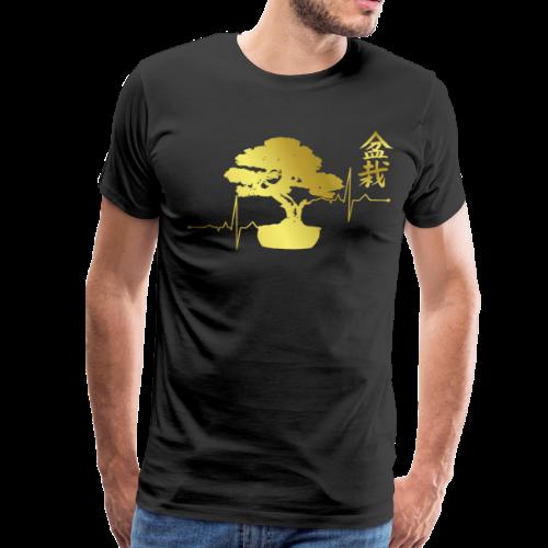Bonsai Shirt Bonsai Tree Heartbeat t-shirt Gift - Men's Premium T-Shirt