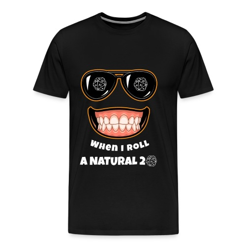 RPG Natural 20 Gaming Gift idea for Gamers, Nerds and Geeks - Men's Premium T-Shirt