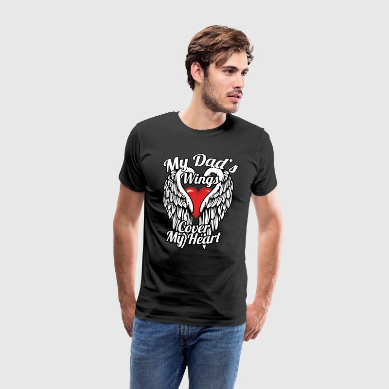 My dad's wings cover my heart - Men's Premium T-Shirt