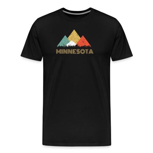 Secret Sasquatch Hidden Retro Minnesota Hiding Bigfoot - Men's Premium T-Shirt