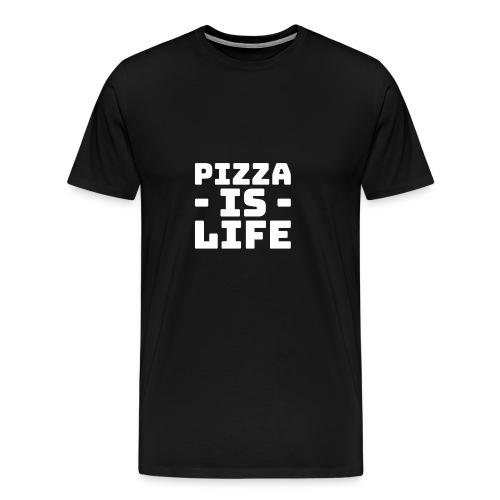 Pizza is life - Men's Premium T-Shirt