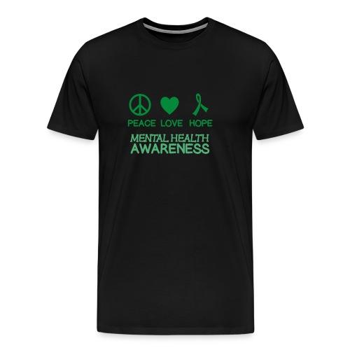 Mental Health Awareness Ribbon peace love hope - Men's Premium T-Shirt