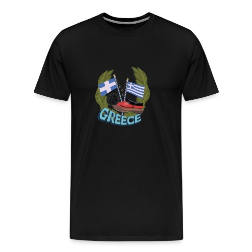 Tsarouchi - Greek traditional costume shoes. - Men's Premium T-Shirt
