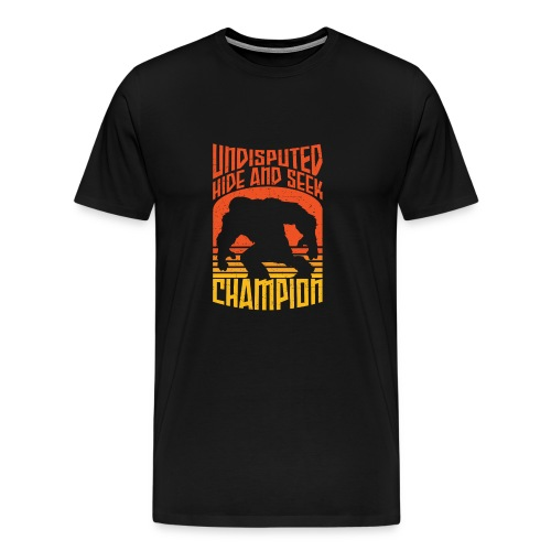 Bigfoot Funny Hide and Seek champion - Men's Premium T-Shirt