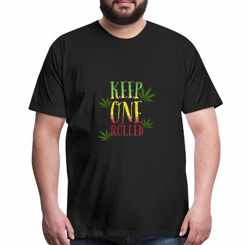keep one rolled BUDdy - Men's Premium T-Shirt