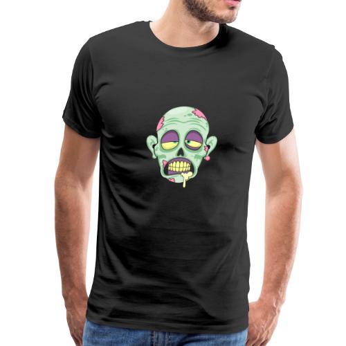 Zombie Head Scary Face Halloween - Men's Premium T-Shirt
