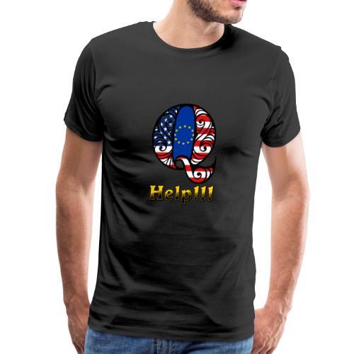 Q Help1 - Men's Premium T-Shirt