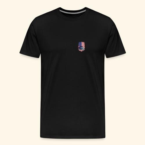 Truck Driver Logo T-Shirt with American Flag - Men's Premium T-Shirt