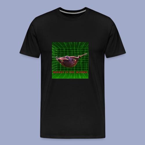 monkey in the matrics - Men's Premium T-Shirt