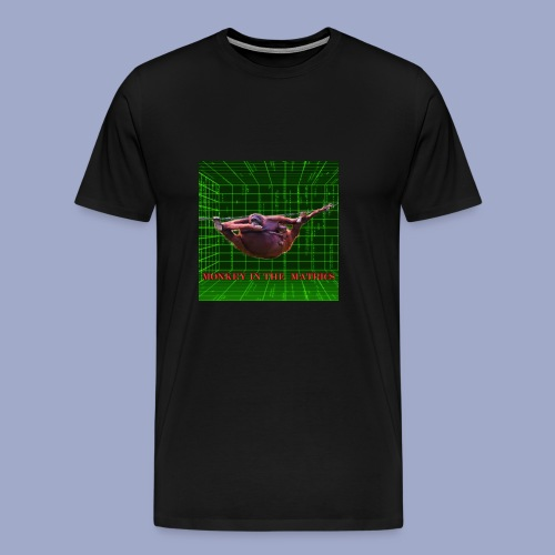 monkey in the matrics - Men's Premium T-Shirt