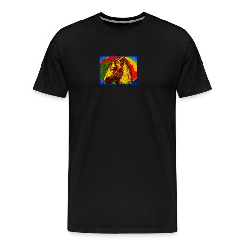 Rainbow Vintage Toy Riding Wonder Horse - Men's Premium T-Shirt