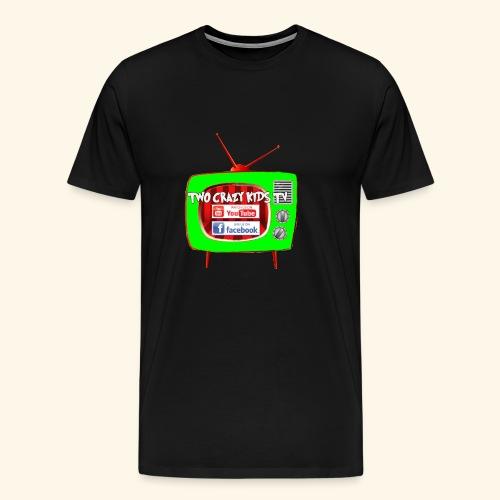 Two Crazy Kids TV Logo - Men's Premium T-Shirt