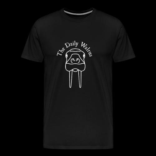 Walrus logo white - Men's Premium T-Shirt