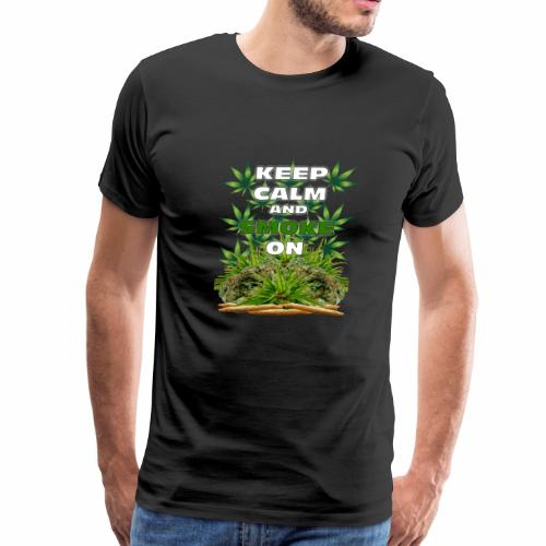 Keep Calm Smoke - Men's Premium T-Shirt