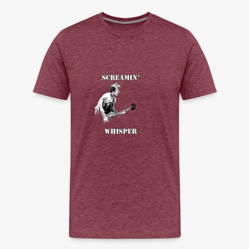 Screamin' Whisper Filth Design - Men's Premium T-Shirt