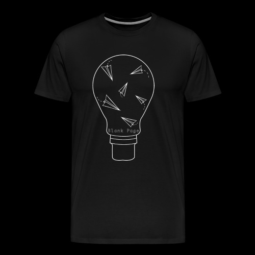Blank Page Lightbulb - Men's Premium T-Shirt