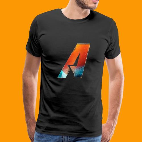 Acombative Multi colored logo - Men's Premium T-Shirt