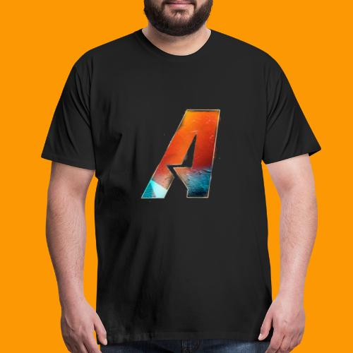 Acombative Multi colored logo - Men's Premium T-Shirt