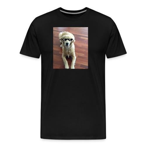 Like a boss (Golden Retriver) - Men's Premium T-Shirt