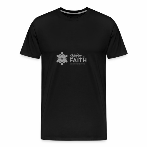 Children of Faith Logo Plain Greyjbh - Men's Premium T-Shirt