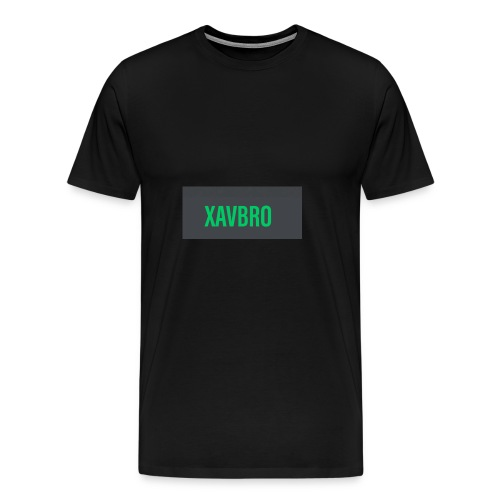 xavbro green logo - Men's Premium T-Shirt