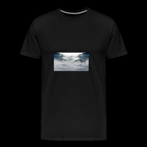 wolf_winter - Men's Premium T-Shirt