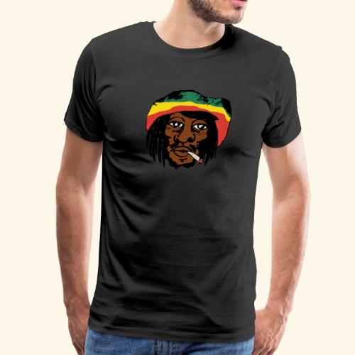 Bob Marley smoking a Spliff - Men's Premium T-Shirt