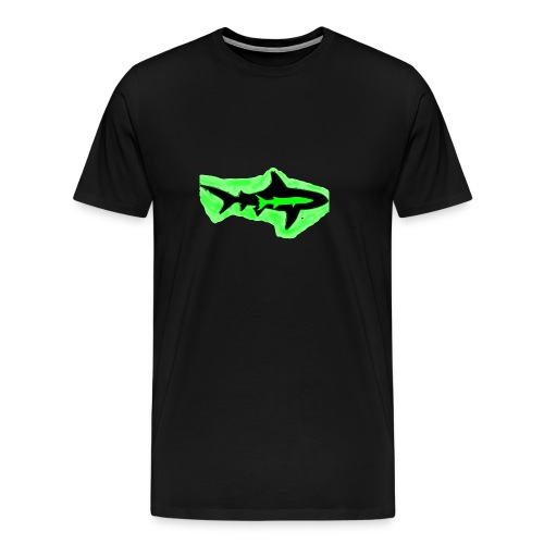 Green Glowing Barracuda Shark - Men's Premium T-Shirt