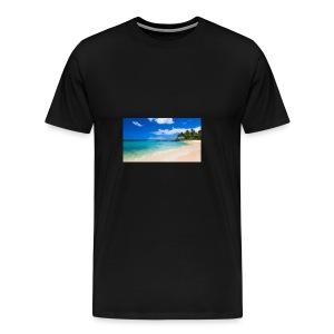 poipu beach park hawaii 0 - Men's Premium T-Shirt