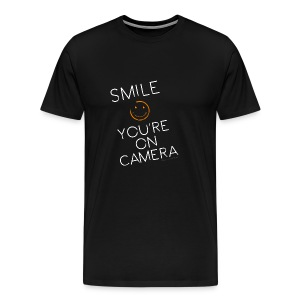 Smiley Cam Alert - Men's Premium T-Shirt