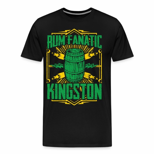Rum Fanatic T-shirt - Kingston, Jamaica - Men's Premium T-Shirt