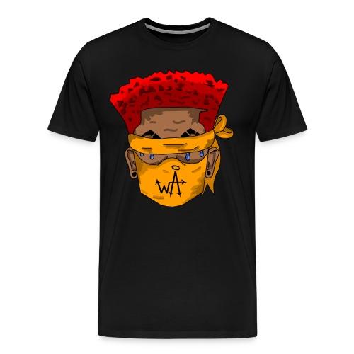 Red Top - Orange Masks - Men's Premium T-Shirt
