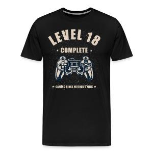 Level 18 Complete Video Gaming T Shirt - Men's Premium T-Shirt