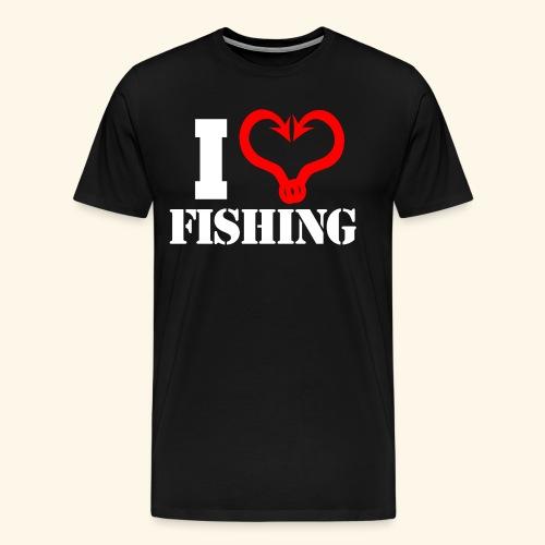 I heart fishing WHITE - Men's Premium T-Shirt