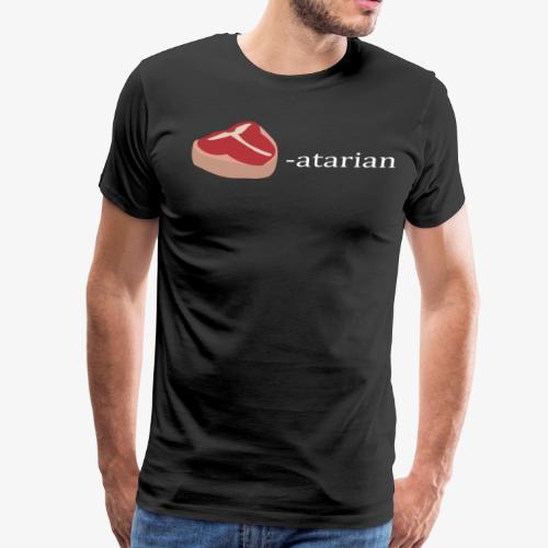 Meat-atarian whitefont - Men's Premium T-Shirt