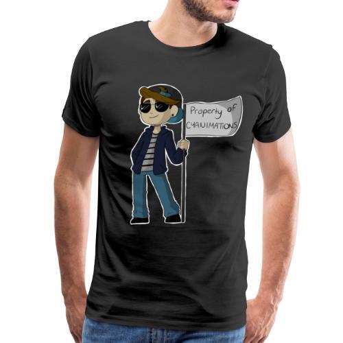 property of cyanimations - Men's Premium T-Shirt