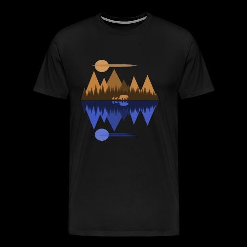 Bear and Cubs #2 - Men's Premium T-Shirt