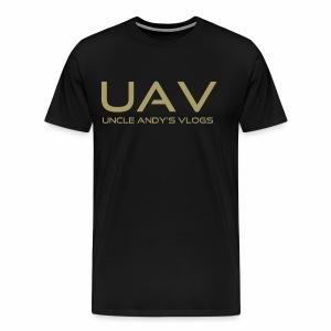 Uncle Andy's Vlogs Merch (gold) - Men's Premium T-Shirt