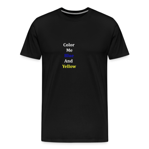yellowandblue - Men's Premium T-Shirt