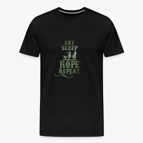 Eat Sleep Rope Repeat Tees - Men's Premium T-Shirt