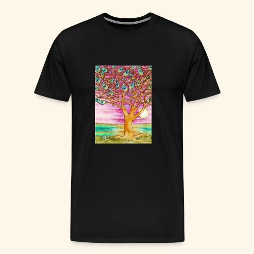 peacock tree - Men's Premium T-Shirt