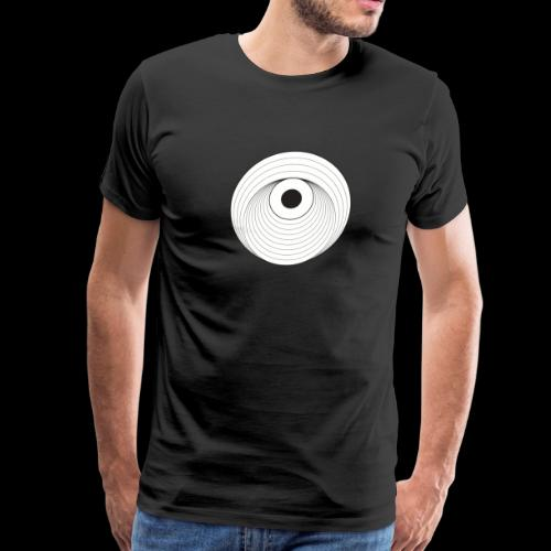 Black Dirt Vortex Logo Light - Men's Premium T-Shirt