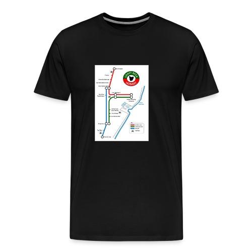 Craft Beer Lines Hobart - Men's Premium T-Shirt