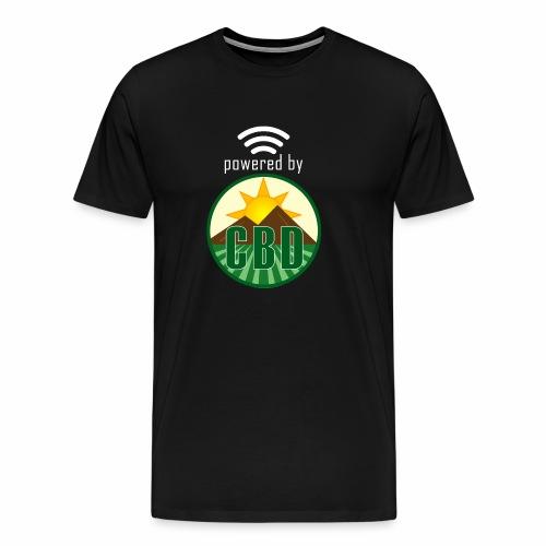 Powered By CBD - White - Men's Premium T-Shirt