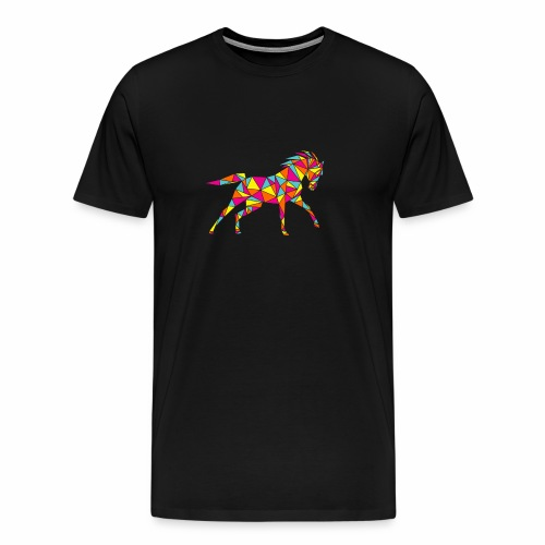 Geometric horse 04 - Men's Premium T-Shirt