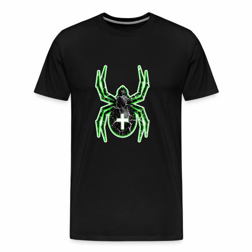 Spider green Outlines - Men's Premium T-Shirt