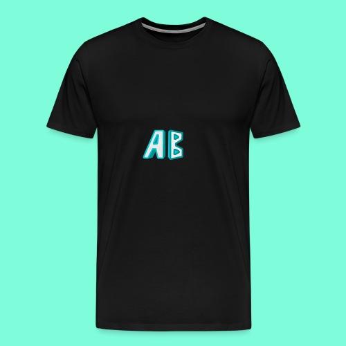 A Button Gaming Logo - Men's Premium T-Shirt