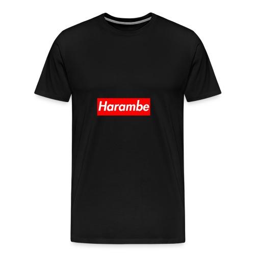 Harambe x Supreme Box Logo - Men's Premium T-Shirt